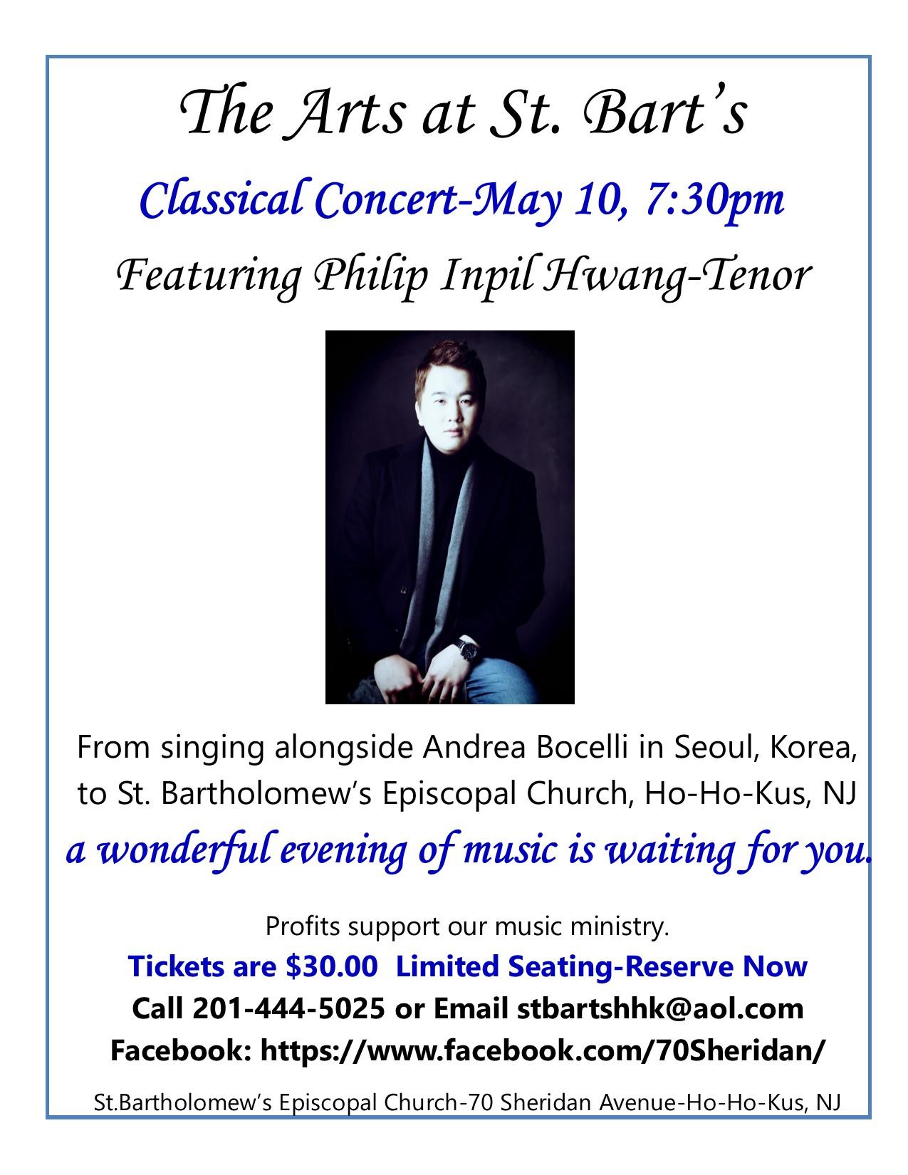Classical Music Concert-May 10 - St  Bartholomew's Episcopal